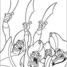 Dibujo para colorear : Los soldados de Jafar