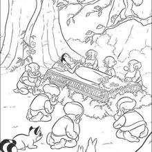 Dibujo para colorear : Muerte de Blancanieves