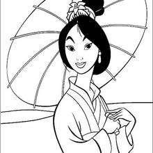 Dibujo para colorear : Princesa Mulán