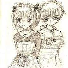 Dibujo Sakura  3 - Dibujar Dibujos - Dibujos MANGA - Sakura cazadora de cartas (Card Captors)