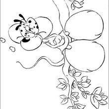 Diddl 11 - Dibujos para Colorear y Pintar - Dibujos para colorear PERSONAJES - PERSONAJES ANIME para colorear - Diddl el ratón para pintar