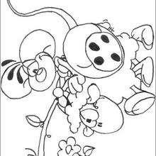 Diddl 15 - Dibujos para Colorear y Pintar - Dibujos para colorear PERSONAJES - PERSONAJES ANIME para colorear - Diddl el ratón para pintar