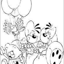 Diddl 8 - Dibujos para Colorear y Pintar - Dibujos para colorear PERSONAJES - PERSONAJES ANIME para colorear - Diddl el ratón para pintar