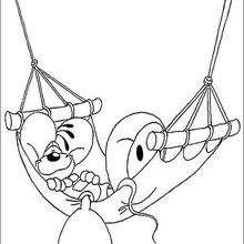 Diddl 9 - Dibujos para Colorear y Pintar - Dibujos para colorear PERSONAJES - PERSONAJES ANIME para colorear - Diddl el ratón para pintar