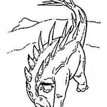 Estegosaurio dinosaurio - Dibujos para Colorear y Pintar - Dibujos para colorear ANIMALES - Dibujos para colorear DINOSAURIOS - Colorear dinosaurio ESTEGOSAURIO