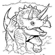 Dibujo triceratops - Dibujos para Colorear y Pintar - Dibujos para colorear ANIMALES - Dibujos para colorear DINOSAURIOS - Pintar dinosaurio TRICERATOPS