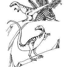 Dibujo grupo de dinosaurios - Dibujos para Colorear y Pintar - Dibujos para colorear ANIMALES - Dibujos para colorear DINOSAURIOS - Pintar DINOSAURIOS