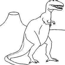 Dibujo tirex dinosaurio - Dibujos para Colorear y Pintar - Dibujos para colorear ANIMALES - Dibujos para colorear DINOSAURIOS - Colorear dinosaurios TIREX