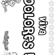 DOLORES colorear nombres niñas - Dibujos para Colorear y Pintar - Dibujos para colorear NOMBRES - Dibujos para colorear NOMBRES NIÑAS