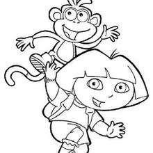 Dora y Botas 1 - Dibujos para Colorear y Pintar - Dibujos para colorear PERSONAJES - PERSONAJES TV para colorear - Dora y sus amigos para colorear