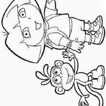 Dora et son ami - Dibujos para Colorear y Pintar - Dibujos para colorear PERSONAJES - PERSONAJES TV para colorear - Dora y sus amigos para colorear