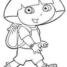 Dora N°2 - Dibujos para Colorear y Pintar - Dibujos para colorear PERSONAJES - PERSONAJES TV para colorear - Dora y sus amigos para colorear