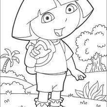 Dora N°4 - Dibujos para Colorear y Pintar - Dibujos para colorear PERSONAJES - PERSONAJES TV para colorear - Dora y sus amigos para colorear