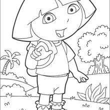 Dibujo para colorear : Dora N°4