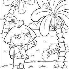 Dora N°5 - Dibujos para Colorear y Pintar - Dibujos para colorear PERSONAJES - PERSONAJES TV para colorear - Dora y sus amigos para colorear
