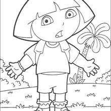 Dora N°6 - Dibujos para Colorear y Pintar - Dibujos para colorear PERSONAJES - PERSONAJES TV para colorear - Dora y sus amigos para colorear