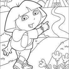 Dora N°7 - Dibujos para Colorear y Pintar - Dibujos para colorear PERSONAJES - PERSONAJES TV para colorear - Dora y sus amigos para colorear