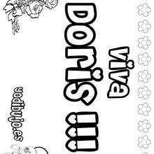 DORIS colorear nombres niñas - Dibujos para Colorear y Pintar - Dibujos para colorear NOMBRES - Dibujos para colorear NOMBRES NIÑAS