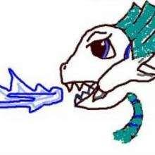 Dragón anónimo - Dibujar Dibujos - Dibujos de NIÑOS - Dibujos de ANIMALES - Dibujos de DRAGONES