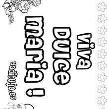 DULCE MARIA colorear nombres niñas - Dibujos para Colorear y Pintar - Dibujos para colorear NOMBRES - Dibujos para colorear NOMBRES NIÑAS