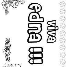 EDNA colorear nombres niñas - Dibujos para Colorear y Pintar - Dibujos para colorear NOMBRES - Dibujos para colorear NOMBRES NIÑAS
