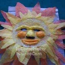 Manualidad infantil : Mascara carnaval SOL