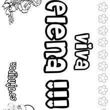 ELENA colorear nombres niñas - Dibujos para Colorear y Pintar - Dibujos para colorear NOMBRES - Dibujos para colorear NOMBRES NIÑAS