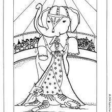 Dibujo elefante - Dibujos para Colorear y Pintar - Dibujos infantiles para colorear - Circo para colorear