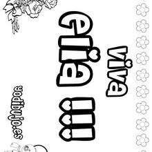 ELIA colorear nombres niñas - Dibujos para Colorear y Pintar - Dibujos para colorear NOMBRES - Dibujos para colorear NOMBRES NIÑAS