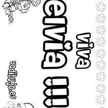ELVIA colorear nombres niñas - Dibujos para Colorear y Pintar - Dibujos para colorear NOMBRES - Dibujos para colorear NOMBRES NIÑAS