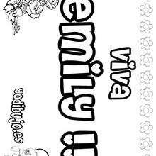 EMILY colorear nombres niñas - Dibujos para Colorear y Pintar - Dibujos para colorear NOMBRES - Dibujos para colorear NOMBRES NIÑAS