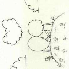 Enamorados - Dibujos para Colorear y Pintar - Dibujos infantiles para colorear - Colorear las 4 temporadas - Dibujos de la primavera para pintar