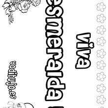 ESMERALDA colorear nombres niñas - Dibujos para Colorear y Pintar - Dibujos para colorear NOMBRES - Dibujos para colorear NOMBRES NIÑAS
