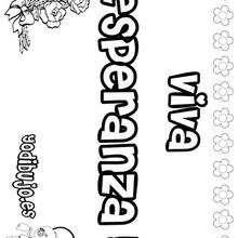 ESPERANZA colorear nombres niñas - Dibujos para Colorear y Pintar - Dibujos para colorear NOMBRES - Dibujos para colorear NOMBRES NIÑAS