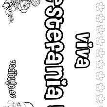 ESTEFANIA colorear nombres niñas - Dibujos para Colorear y Pintar - Dibujos para colorear NOMBRES - Dibujos para colorear NOMBRES NIÑAS
