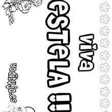 ESTELA colorear nombres niñas - Dibujos para Colorear y Pintar - Dibujos para colorear NOMBRES - Dibujos para colorear NOMBRES NIÑAS