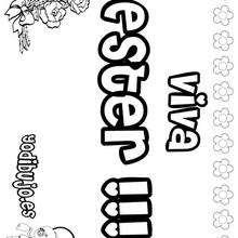 ESTER colorear nombres niñas - Dibujos para Colorear y Pintar - Dibujos para colorear NOMBRES - Dibujos para colorear NOMBRES NIÑAS