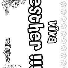 ESTHER colorear nombres niñas - Dibujos para Colorear y Pintar - Dibujos para colorear NOMBRES - Dibujos para colorear NOMBRES NIÑAS