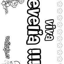 EVELIA colorear nombres niñas - Dibujos para Colorear y Pintar - Dibujos para colorear NOMBRES - Dibujos para colorear NOMBRES NIÑAS