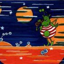ET en bañador - Dibujar Dibujos - IMAGENES infantiles - Imagenes infantiles para ver e imprimir - Extraterrestres