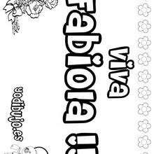 FABIOLA colorear nombres niñas - Dibujos para Colorear y Pintar - Dibujos para colorear NOMBRES - Dibujos para colorear NOMBRES NIÑAS