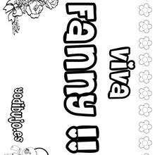 FANNY colorear nombres niñas - Dibujos para Colorear y Pintar - Dibujos para colorear NOMBRES - Dibujos para colorear NOMBRES NIÑAS