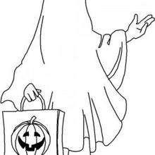 Dibujo de un fantasma de Halloween - Dibujos para Colorear y Pintar - Dibujos para colorear FIESTAS - Dibujos para colorear HALLOWEEN - Dibujos para colorear FANTASMAS HALLOWEEN