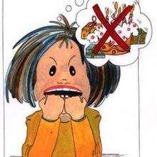 Ilustración : Niña enojada