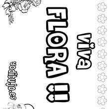 FLORA colorear nombres niñas - Dibujos para Colorear y Pintar - Dibujos para colorear NOMBRES - Dibujos para colorear NOMBRES NIÑAS