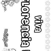 Nombre de niña para pintar : FLORENCIA