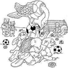 Franklin 14 - Dibujos para Colorear y Pintar - Dibujos para colorear PERSONAJES - PERSONAJES ANIME para colorear - Franklin la tortuga para pintar