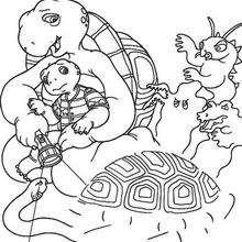 Franklin 40 - Dibujos para Colorear y Pintar - Dibujos para colorear PERSONAJES - PERSONAJES ANIME para colorear - Franklin la tortuga para pintar