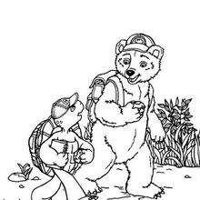 Franklin 54 - Dibujos para Colorear y Pintar - Dibujos para colorear PERSONAJES - PERSONAJES ANIME para colorear - Franklin la tortuga para pintar