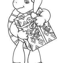 Franklin 57 - Dibujos para Colorear y Pintar - Dibujos para colorear PERSONAJES - PERSONAJES ANIME para colorear - Franklin la tortuga para pintar